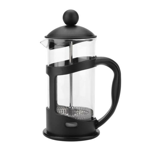 350//800//1000ml Stainless Steel Glass Tea Coffee Cup french Plunger Press Maker M