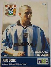Coventry City v KRC Genk Friendly 2000/01