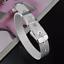 Fashion-925-Silver-Plated-Charm-Bangle-Cuff-Bracelet-Men-Women-Jewelry-Wristband thumbnail 8