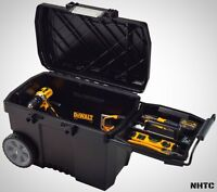 Portable Rolling Tool Box Wheels 15 Gal. Contractor Chest Storage In Black on sale