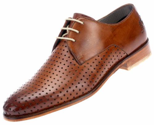 uomo business Lace pelle Scarpe da Derbys in Oxfords up Cognac Bugatti 67002 gFIxqx1w