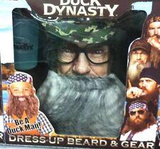 NEW DUCK COMMANDER DUCK DYNASTY Halloween BEARD - BEARD Grey Si Role Play Set