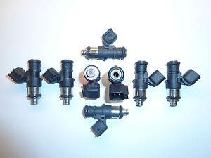 TRE Flowmatched 60lb EV6 Short Fuel Injectors Fit Bosch Siemens Deka 630cc//min 4