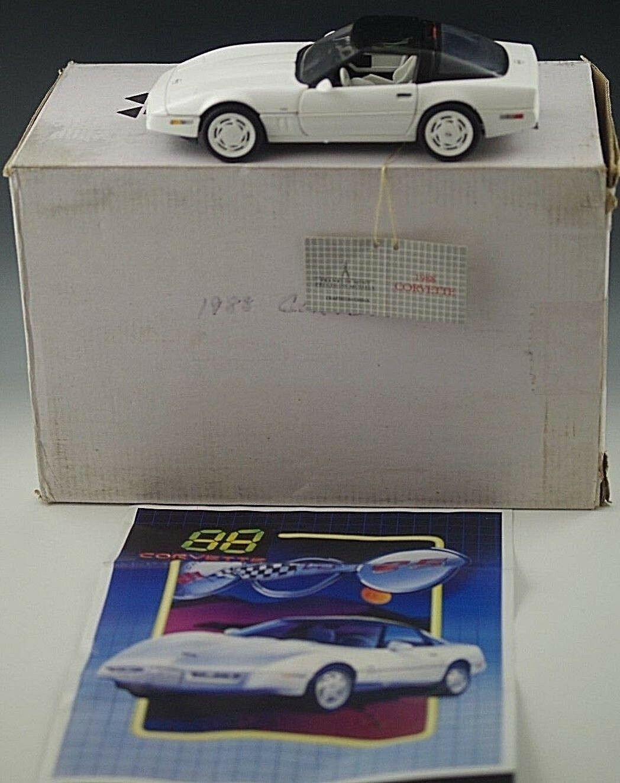 Franklin mint 1988 corvette cabrio 24 skala druckguss nib