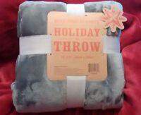 Berkshire Blanket Holiday Throw 55 X 70 Velvet Super Soft Steel/medium Gray