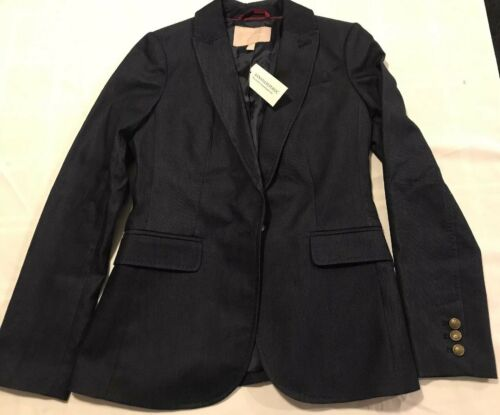 NWT BANANA REPUBLIC Women's Blazer Polyester Blend Stretch Size 2 Black TS8