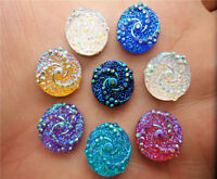 NEW DIY 40pcs 12mm resin Round  flatback Scrapbooking for phone/wedding, Crafts