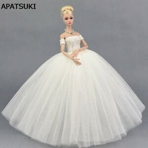 Pure-White-Wedding-Dress-for-11-5inch-Doll-Evening-Party-Clothes-for-1-6-Dolls