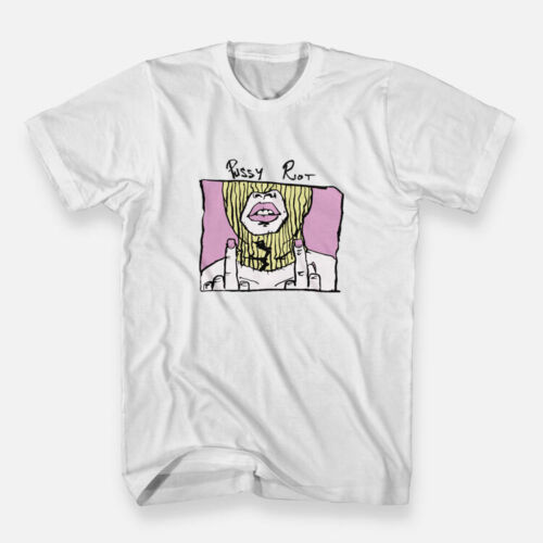 New Pussy Riot Art White Men/'s Tees Size S-3XL T-shirts Regular