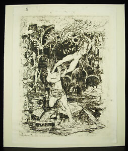 Theme-biblical-Adam-and-Eve-revisited-engraving-c1970-print-signature-monotype