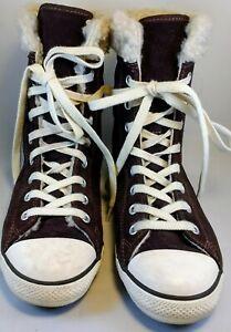 Brown Suede Fleece Lined Sneaker Women