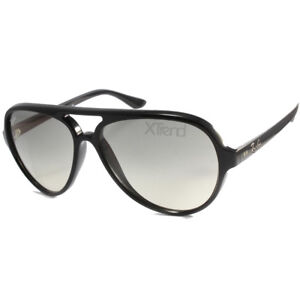 2a476a25a61 Ray-Ban RB4125 601 32 Cats 5000 Black Grey Gradient Men s Aviator ...