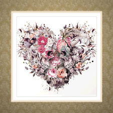 Skull 5D Diamond Embroidery Heart Painting DIY Cross Stitch Home Decor