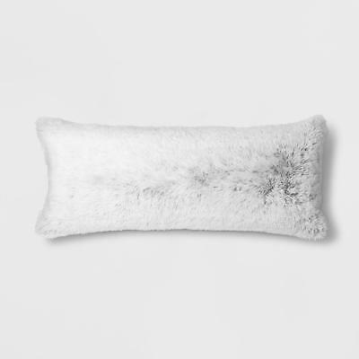Textured Body Pillow Cover Room Essentials Black White Faux Fur
