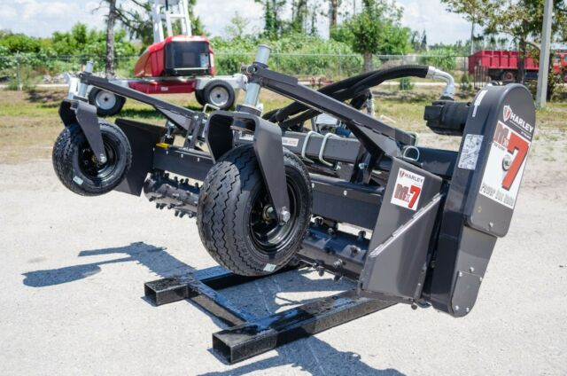 John Deere 329-332 Harley Power Landscape Rake 7' Hydraulic Angle Off Joysticks