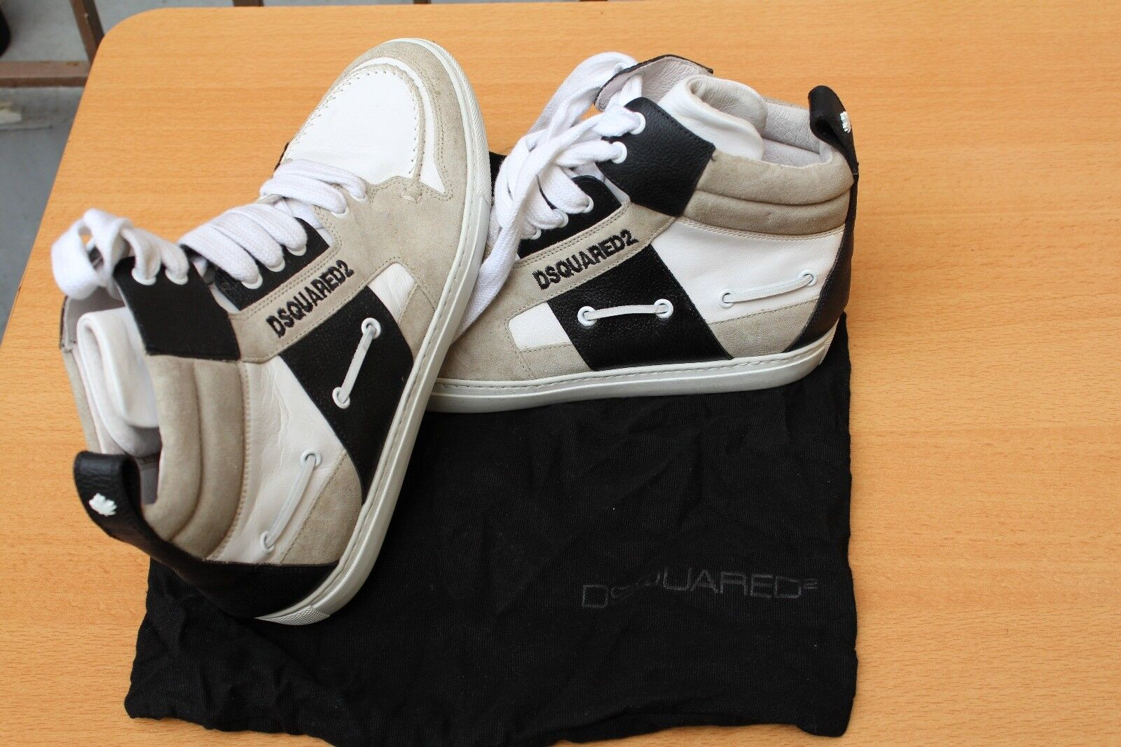 9c4a1ecb57 CHAUSSURE SNEAKER MONTANTE DSQUARED 42 NEUF CUIR nnpswz2342-new ...