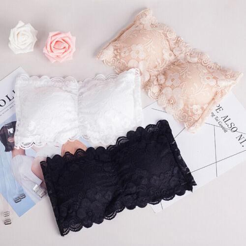 Women Brassiere Lace Bra Tube Top Wrapped Chest Tank Top Underwear Crop TopBB