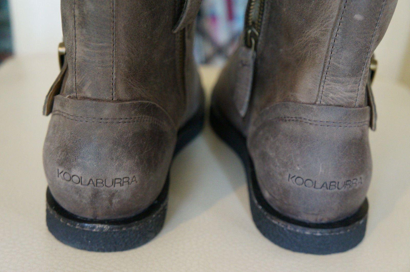 NEW KOOLABURRA Jovi Moto Style Leder Lace Up Shearling 295 Stiefel Wetsand SZ 7 295 Shearling 8c3d73