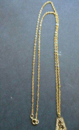 """28cm GOLD PLATED CHAIN NECKLACE GOLD PLATED PENDANT INCLUDING A 22/"""" FREEPOST"""