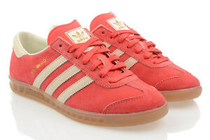 NEW-Shoes-Adidas-Originals-Hamburg-Womens-Shoes-Sneakers-Sneaker-Pink-SALE