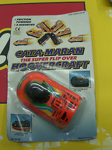 VINTAGE 80'S CATAMARAN HOVERCRAFT FLIP OVER FRICTION POWERED MOC RARE