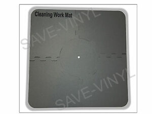 Record-Cleaning-Station-Mat-for-LP-12-034-Vinyl-Album-spindle-securely-holds-record