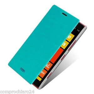 Custodia-Azzurra-a-Portafoglio-in-TPU-per-Nokia-Lumia-1520-Flip-Cover