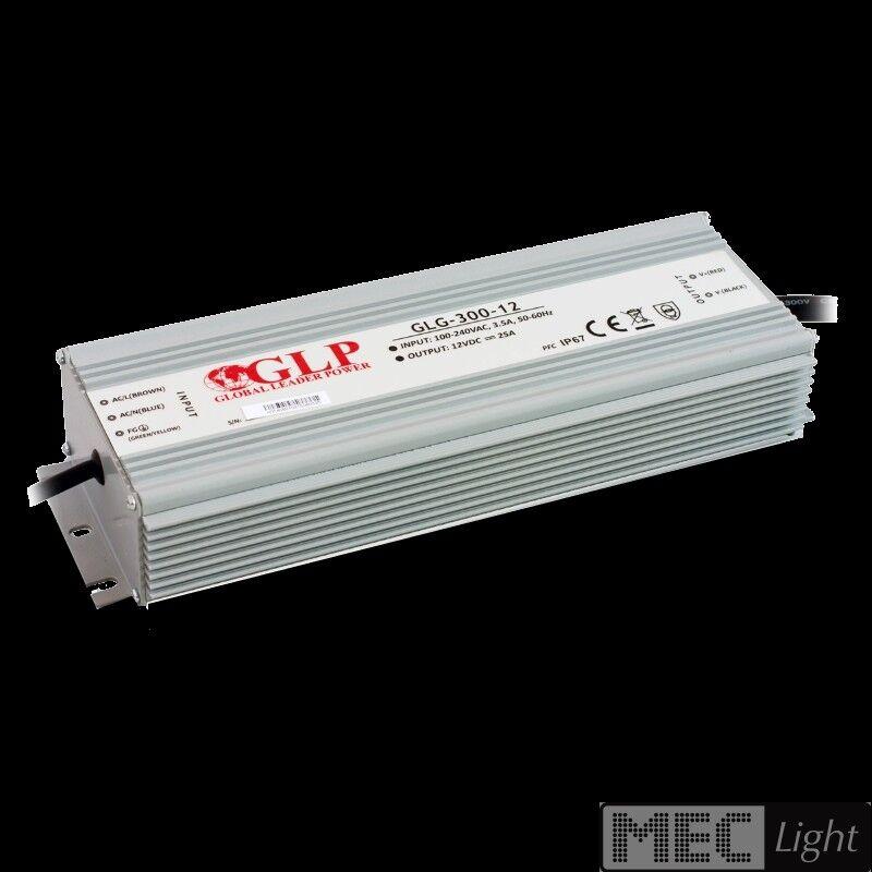 LED Trafo - Netzteil mit PFC 12V - 300W - 25A -wasserfest- GLP (GLG-300-12) IP67