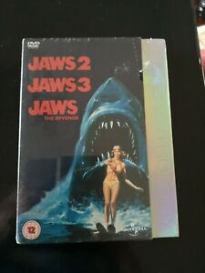 DVD-Boxset-JAWS-2-3-and-the-Final-JAWS-the-Revenge-new-and-sealed-3-films