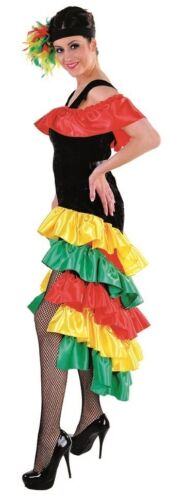 Flamenco costume robe de fete espagnole danse samba espagnols Brésil salsa Disco
