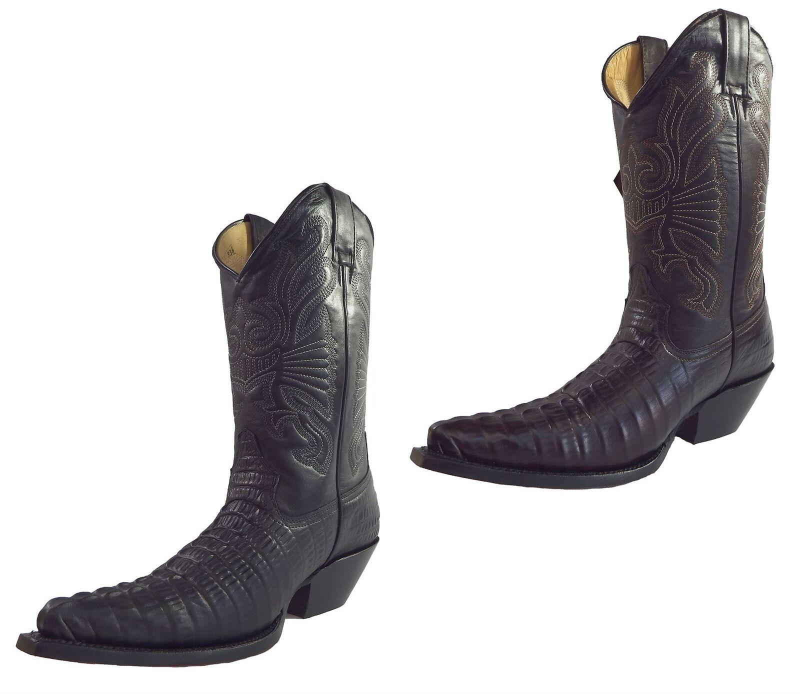 Grinders Carolina Croc Tail in Pelle Messicano Premium Stivali Da Cowboy Messicano Pelle 46d4ab
