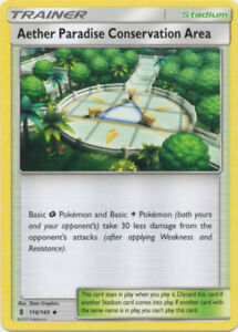 Guardians Rising MINT 4X Pokemon AETHER PARADISE CONSERVATION AREA 116/145