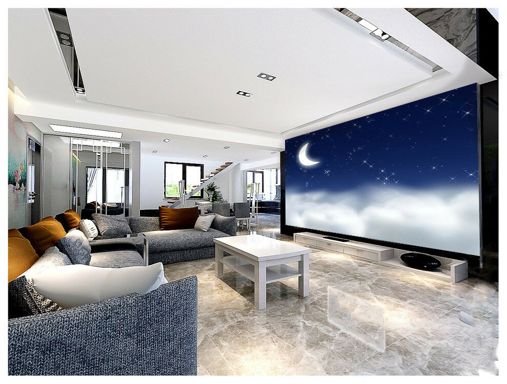 3D Sternenhimmel Mond 9 Tapete Wandgemälde Tapete Tapeten Bild Familie DE Summer