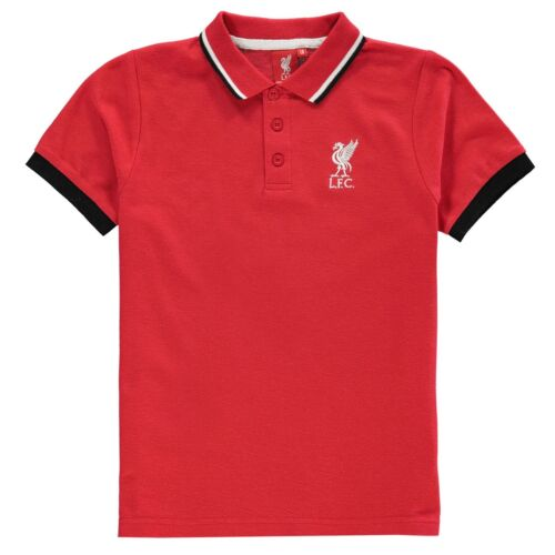 BOYS OFFICIAL SOURCE LAB LIVERPOOL FOOTBALL LFC CLUB SHORT SLEEVE POLO SHIRT