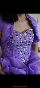 lilac, purple quinceanera dress