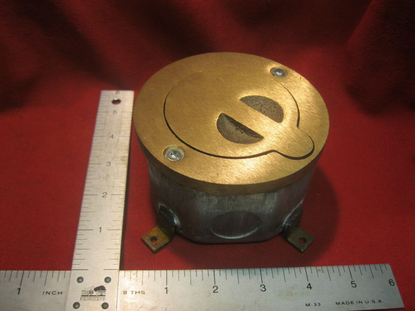 Heavy Duty Brass Recessed 3 Pin XLR Switchcraft Microphone Floor Plate Box