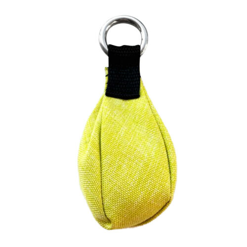 350g Arborist Throw Weight Bag with 20mm Ring Attach to Throw Line Yellow