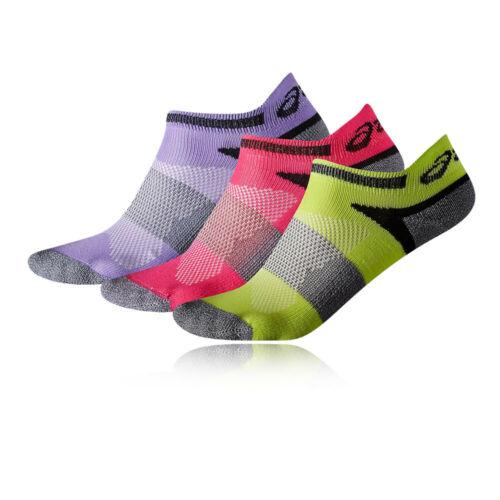 Asics Kinder Lyte Füßlinge Socken 3er Pack Grün Rosa Lila Sport Atmungsaktiv