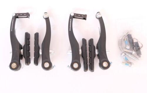 Fahrrad Promax V-Brakes für VR /& HR in schwarz Alu inkl Zubehör Neuware