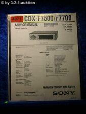 Sony Service Manual CDX F7500 /F7700 CD Player (#4071)