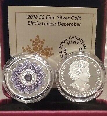 NOVEMBERcanada 2018 $5 FINE SILVER COIN BIRTHSTONES