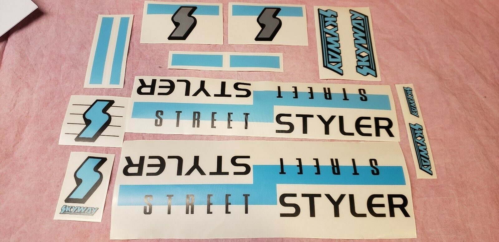 Skyway Street Styler  88 Reproduction Decals Old Bmx 20  Freestyle Bike Beat Ta  global distribution