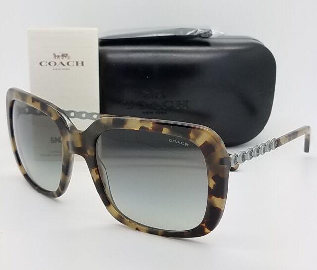 c053169e657 New Coach sunglasses HC8237 551811 57mm Tortoise Gradient Chain Butterfly  8237
