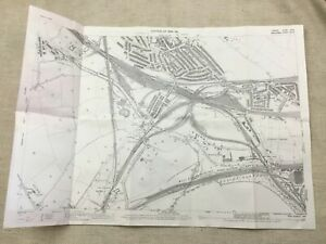 Antique-London-Map-Willesden-Junction-Railway-Line-Victorian-England-1894