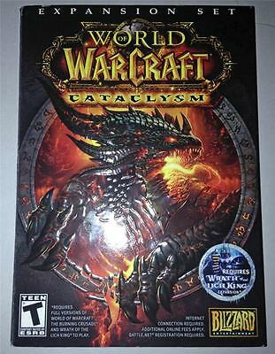 BLIZZARD WOW WARCRAFT CATACLYSM PC DVD ROM GAME LICH KING PACK NEEDED TO  PLAY 20626728478 | eBay