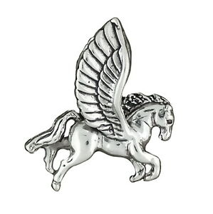 Sterling Silver 3D Flying Pegasus Horse Pendant Charm  new old stock