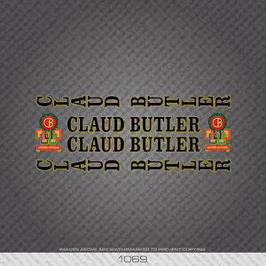 01069 Claud Butler Bicycle Stickers - Decals - Transfers