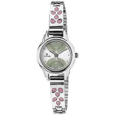 Titan Silver White Dial Women's Analog Watch - 2401SM03