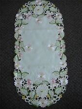 "16x72"" Embroidered TableClothes Dining Table Runner cutwork design Daisy Floral"