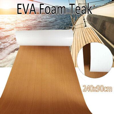 90cm×240cm EVA Schaum Bodenbelag FußbodenTeak Matt für Yacht Boot Schiff DHL